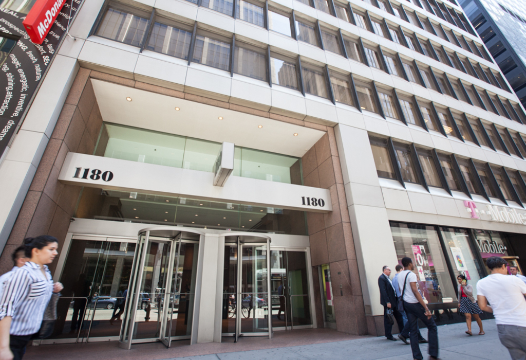 1180 Avenue of the Americas, 8th Floor New York City, NY 10036