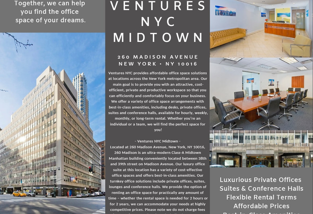 260 Madison Avenue, Suite 204 New York City, NY 10016